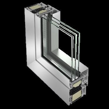 Serramento in alluminio: sezione
