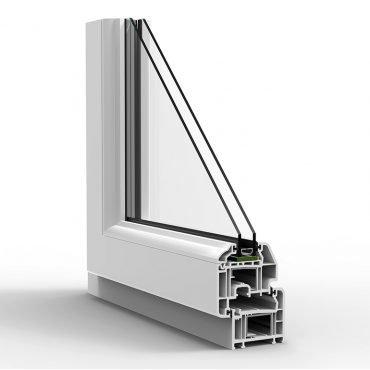 Sezione di finestra in Alluminio