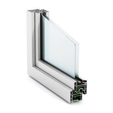 Sezione di una finestra in PVC