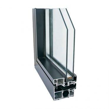Profilo di finestra in alluminio blindato