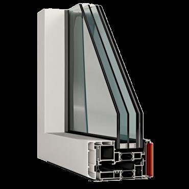 Serramento in alluminio blindato: sezione