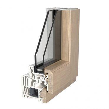 Profilo di finestra Finstral in Alluminio Legno