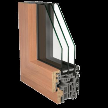 Serramenti in alluminio legno: sezione